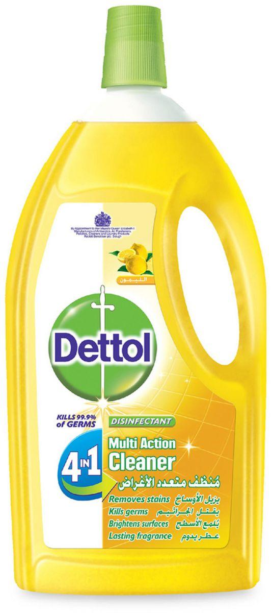 منظف متعدد الاستخدام 4 في 1 برائحة الليمون من ديتول، 1.8 لتر