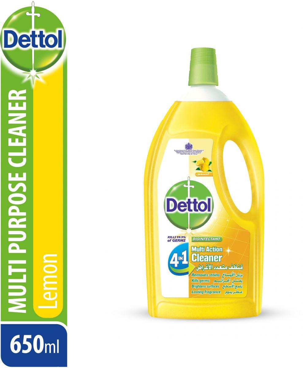منظف متعدد الاستخدام 4 في 1 برائحة الليمون من ديتول، 650 مل